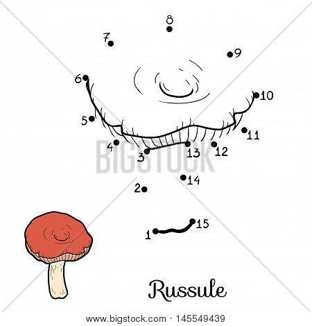 Numbers Game For Children. Edible Mushrooms, Russule