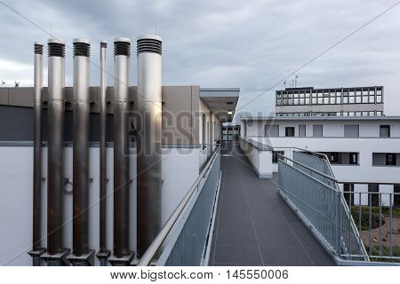 Air condition and heating pipes at a new residential building