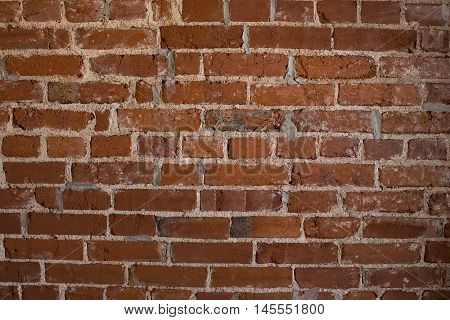 A weathered red brick wall background image