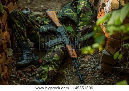 Body Of Dead Soldier