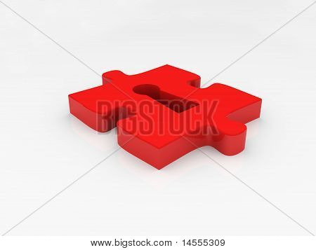 Puzzle With Keyhole