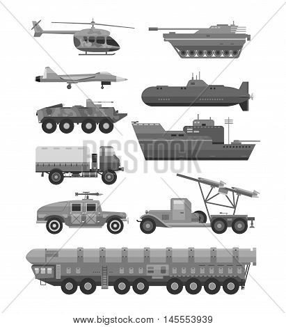 Military technic army, war tanks and military industry technic armor tanks collection.