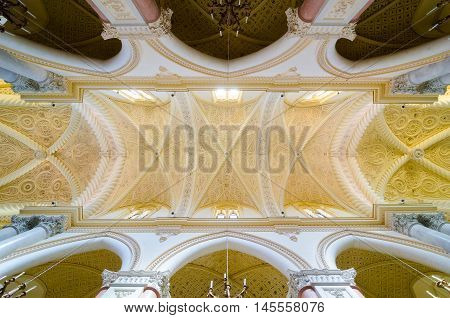 Ceiling In The Cathedral Of Erice, Santa Maria Assunta, Chiesa Madre. Sicily, Italy.