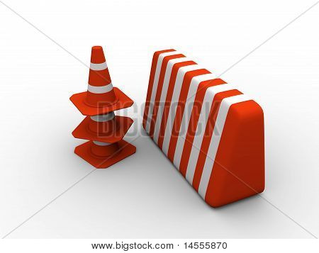 Traffic Cones And Guard