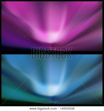 Northern blue aurora backgrounds.