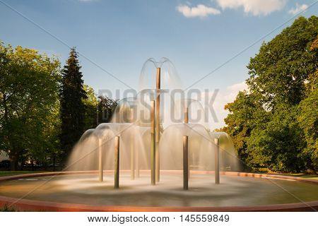 Fountain at park Bad Homburg Hesse Germany