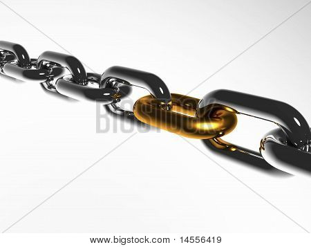 A Chain With Golden Link