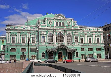 Saint Petersburg Russia - 14 July 2016: Tovstonogov Bolshoi Drama Theater is a theater that is considered one of the best Russian theaters.The theater is named after its long-time director Georgy Tovstonogov.