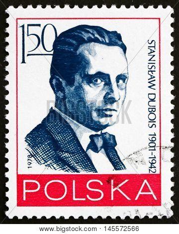 POLAND - CIRCA 1978: a stamp printed in Poland shows Stanislaw Dubois Polish Journalist and Political Activist circa 1978