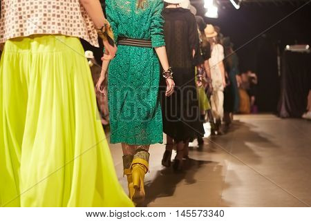 Fashion Show, A Catwalk Event. Shallow dof