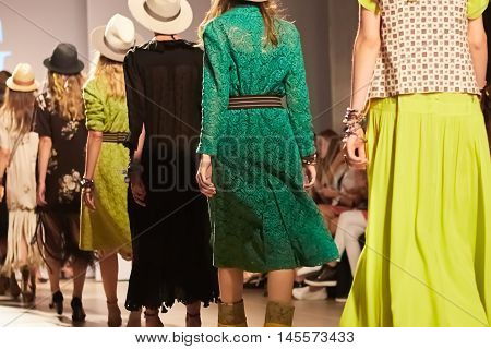 Fashion Show, A Catwalk Event. Shallow dof