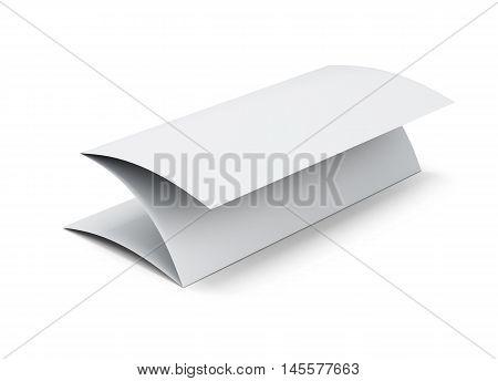 Blank Paper Booklet. 3D Illustration On White Background