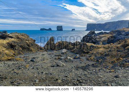 Dyrholaey, A Headland  In South Iceland