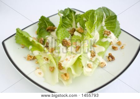 Salad Romaine Lettuce With Ranch Dressing