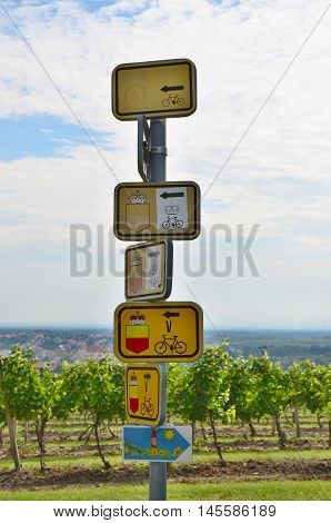 marked hiking trails cycling southern Moravia Czech Republic