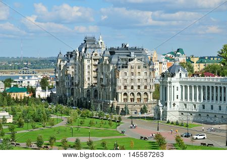 Kazan, Tatarstan, Russia - September 4, 2016. A modern residential complex