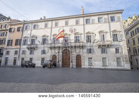 Italy, Rome, Piazza di Spagna 13/12/2015 - Early morning in front of Embassy of Spain in Piazza di Spagna