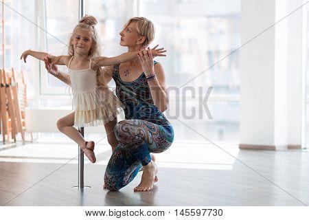 Beautiful Little Dancer And Her Dancing Teacher