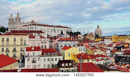 Alfama historical district of Lisbon, city of Portugal