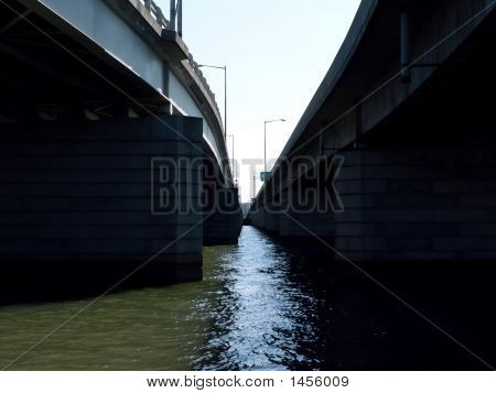 Bridges Crossing River