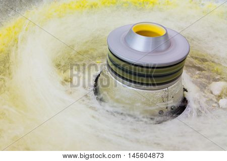 Cotton Candy Machine Spinning Bright Yellow Making