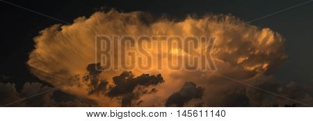 Cumulonimbus at sunset over the Florida Keys