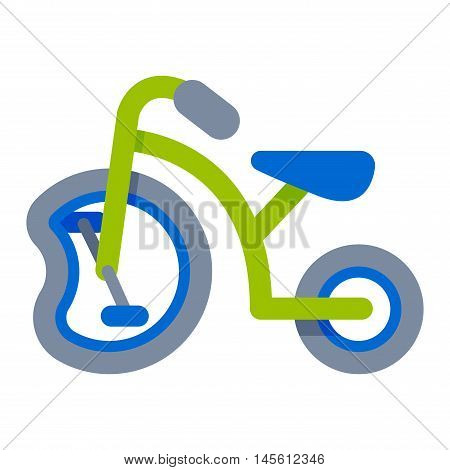 Vintage recreation antique crashed bicycle. Old transportation damaged metal broken bike wheel transport. Crash rust dirty broken bike vector illustration gear repair activity lifestyle.