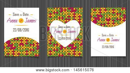 Modern Wedding invitation with an abstract design