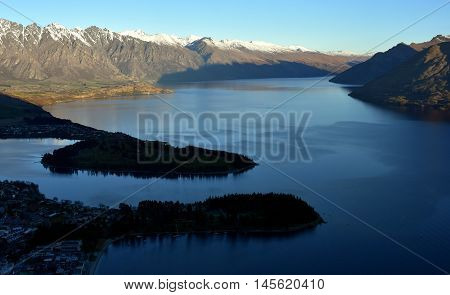 View of Queenstown and The Remarkables Queenstown New Zealand