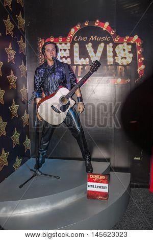 Elvis Presley Wax Figure At The Wax Museum