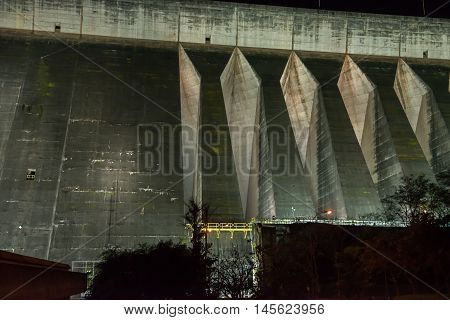 View Of The Itaipu Dam Giant Barrage