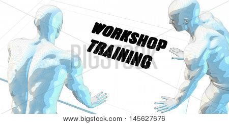Workshop Training Discussion and Business Meeting Concept Art 3D Illustration Render