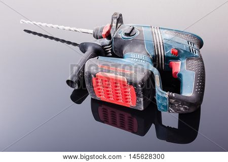 Professional Rotary Hammer On Black