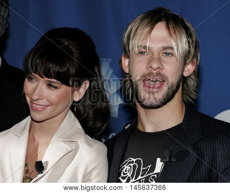 Jennifer Love Hewitt and Dominic Monaghan at the 32nd Annual People's Choice Awards Nominations held at the Hollywood Roosevelt Hotel in Hollywood, USA on November 10, 2005.