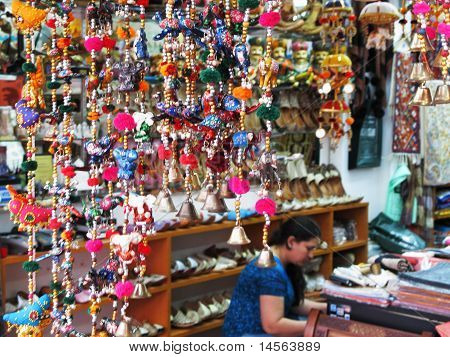 textile and shoe shop in Little India in Singapore