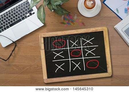 Xo Game Of Tic Tac Toe Game  Close Up Ox