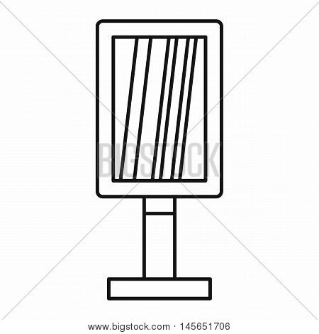 Vertical billboard icon in outline style isolated on white background. Vector illustration