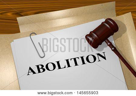 Abolition - Legal Concept