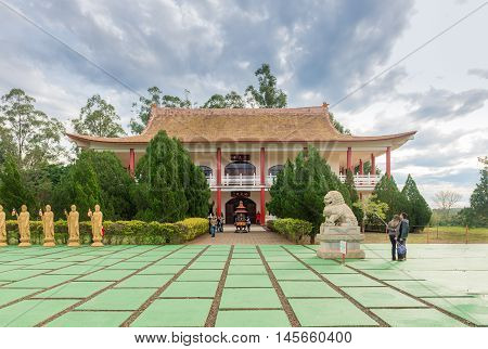 Chinese Building At The Buddhist Temple Complex