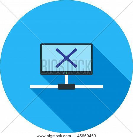 Disconnect, network, lost  icon vector image. Can also be used for networking. Suitable for use on web apps, mobile apps and print media.