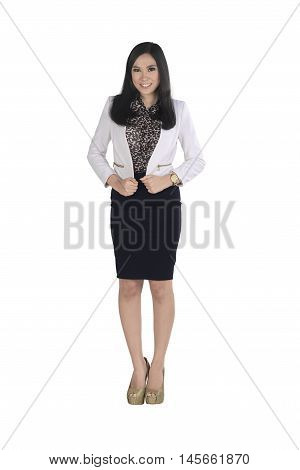 Young Asian Business Woman Wearing Formal Clothes