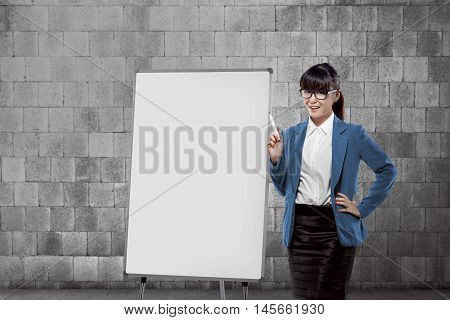 Beauty And Joyful Expression Business Woman