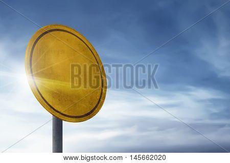 Circle Blank Board Traffic Signs