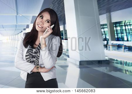 Asian Woman Using Smartpone