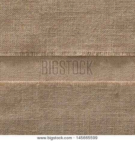Burlap Seamless Fabric Edge Background Jute Strip Sack Cloth Frame Horizontal Line