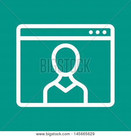 Male, web, visitor icon vector image. Can also be used for web. Suitable for mobile apps, web apps and print media.