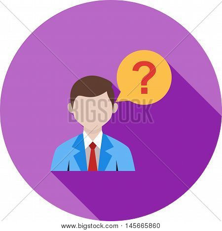 Customer, question, talking icon vector image. Can also be used for customer services. Suitable for web apps, mobile apps and print media.