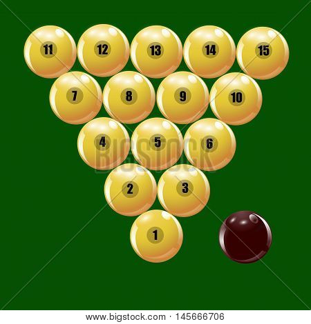 Set of balls to play Russian billiards. Vector illustration