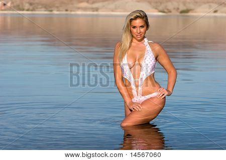 Sexy beautiful woman in swimsuit