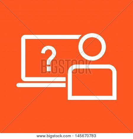 Survey, online, questions icon vector image. Can also be used for E Learning. Suitable for mobile apps, web apps and print media.